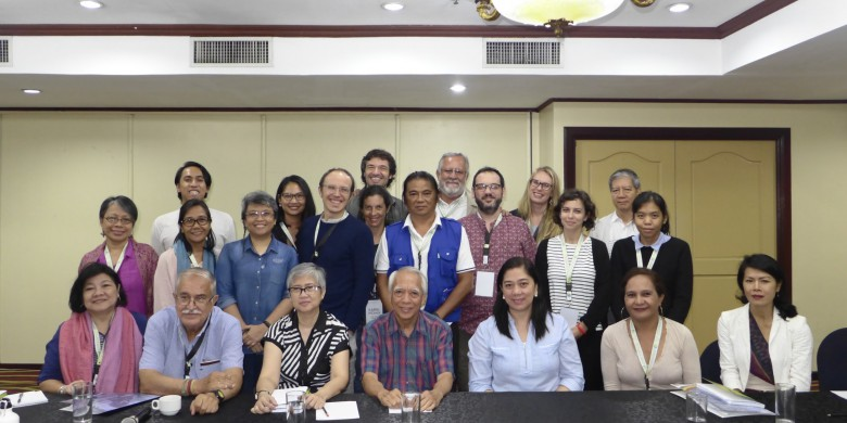 Participants in the mission together with the representatives from the NDFP Panel: Ms. Issa Dumanjug (Head of the NDFP Panel Secretariat), Mr. Rey Casambre (NDFP Peace Consultant) and Ms. Atty. Rachel Pastores (NDFP Legal Consultant).